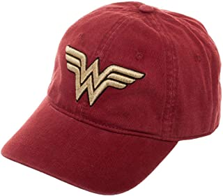 e9891acd6de Red Wonder Woman Dad Hat Cateonic Wonder Woman Snapback Hat