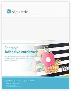 Silhouette America MEDIACRD Silhouette Printable Adhesive Cardstock 8.5