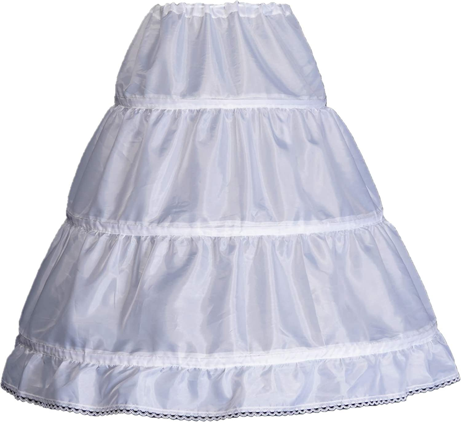 Details about  /Girls Kids 2 Layers Petticoat Layers A-line Pleated Ruffle Skirt Fancy A-line