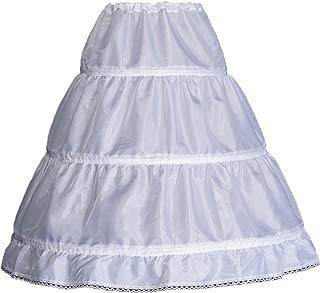 WMLWL Girls' 1 2 3 Hoops Petticoat Full Slips Flower Girls Crinoline Skirts Ball Gowns 1-12 Year Old