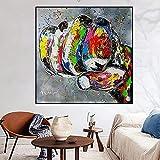Kunst Poster 50x50cm Rahmenlose Abstrakte Farbe Graffiti