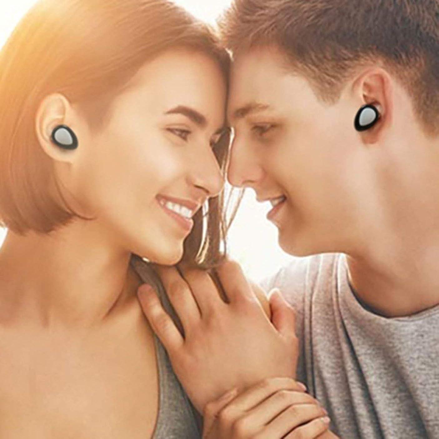 お嬢踏み台性交Saikogoods TWS-K2 Mini In-ear Stereo Bluetooth Headset Handsfree Sport Earbuds Wireless Bluetooth 4.1 Earphone With Mic Charger Box