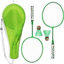 IDKII Raquette Tennis Enfant 2 en 1 Raquettes de Badminton avec Net Ensemble de Sport pour Les Enfants Plus de 3 Ans