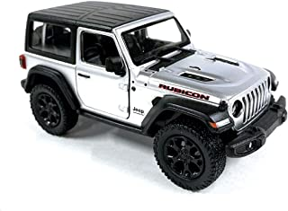 Jeep Wrangler Rubicon 4x4 Hard Top Off Road Exploration Diecast Model Toy Car Silver
