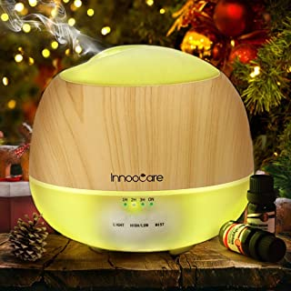 Innoo Tech Essential Oil Diffuser, 500ML, InnooCare Wood Grain Aromatherapy Diffuser, Ultrasonic Cool Mist Humidifier with...