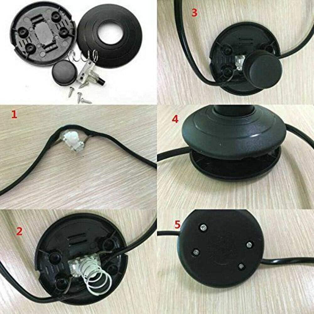 SENRISE Interrupteur /à pied rond 2 A pour lampe sur pied et lampadaire transparent