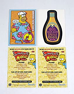 2001 Inkworks Simpsons Mania! Promo Card Set (2) Nm/Mt