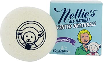 Nellie's Scented Wool Dryerball - Lavender Scented - Made with 100% Pure New Zealand Wool and Lasts Approximately 50 Drying Loads - Silent in Your Dryer!