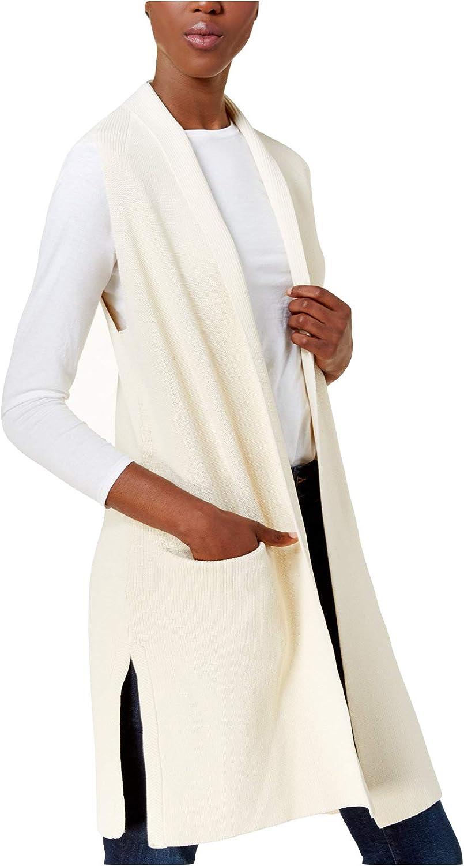 Kensie Women's Ribbed OpenFront Vest