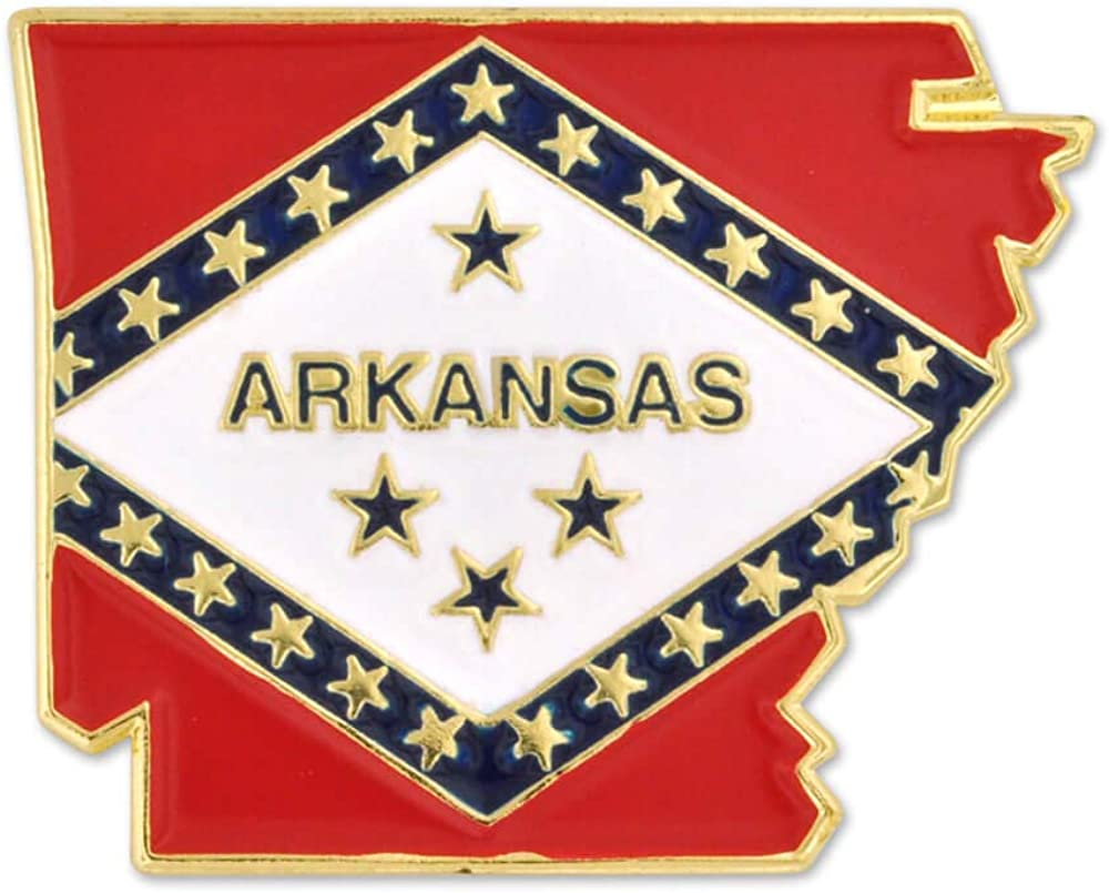 Colorado Springs Mall PinMart State Shape of Arkansas 1-1 Courier shipping free Pin 8