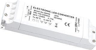 Kimjo Transformador 12V Fuente de Conductor Alimentación LED 50W 230V 4.17A 1 Paquete Blanco para Bajo Voltaje Bombillas G4 MR16 GU5.3 MR11 Tira LED