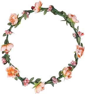 Amosfun Flower Headband Beach Floral Headpiece Hair Accessory Photo Props for Holiday Wedding (Green)