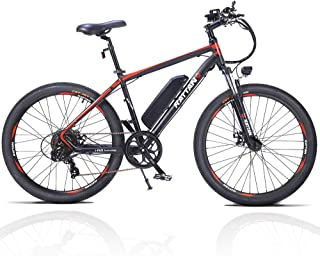Rattan Challenger Pro 26 Inch Electric Bicycle 36V 10.4AH Removable Lithium-ion Battery 350W Electric Bike for Adults EBike with Smart I-PAS Power System E-Bike 7 Speed Shifte