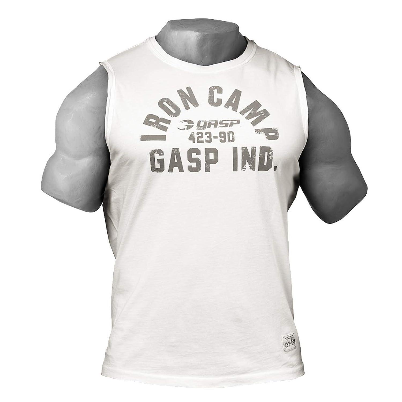正規輸入品 GASP(ギャスプ) タンクトップ メンズ ノースリーブ 筋トレ フィットネスウエア ジムウエア GP-M16070-715