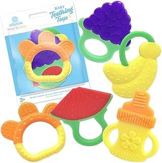 Juguetes de dentición de bebé, sin BPA, para congelador, orgánicos naturales seguros, mordedor para bebés 3a 12meses, bebés, niños por Ashtonbee (5unidades).