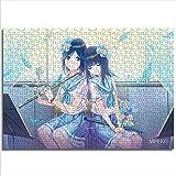 Dos chicas en la escuela Uniforme Uniforme Instrumento musical Flauta Rompecabezas Pensamiento Desarrolla Rompecabezas Desarrolla Pasatiempos Mini 1000Pcs Papel
