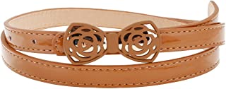 Damara Womens Fashion Bowknot Buckle Solid Color Clasp Belt