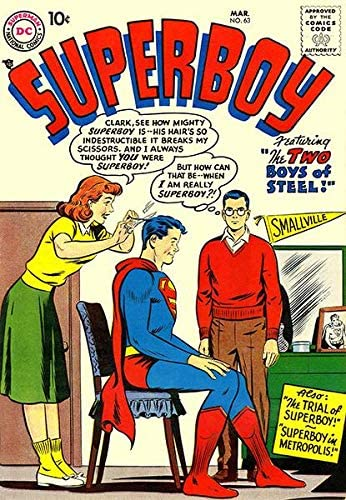 Superboy #63 Soldering 40% OFF Cheap Sale - March 1958 Comic Poster Cover Book
