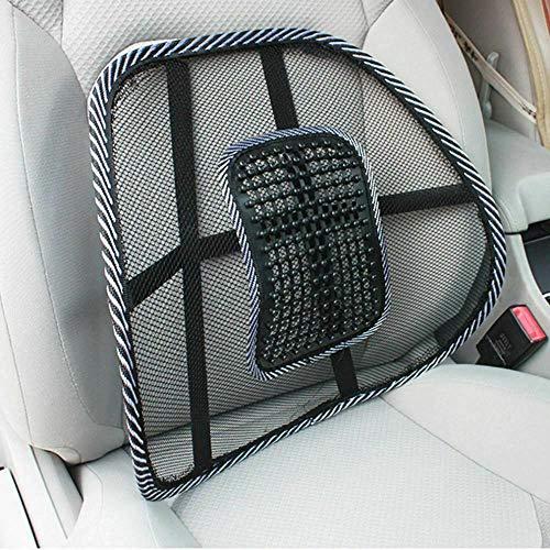 SmashingDealsDirect® Lumbar onderrug Mesh rugsteun kussen pijn verlichting auto stoel bureaustoel