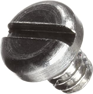 303 Stainless Steel Machine Screw, Plain Finish, Pan Head, Slotted Drive, Flat Point, Meets ASME B18.6.3, 0.0625