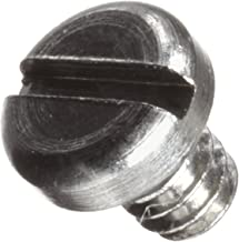Stainless Steel Machine Screw, Plain Finish, Pan Head, Slotted Drive, Meets ASME B18.6.3, 0.0625