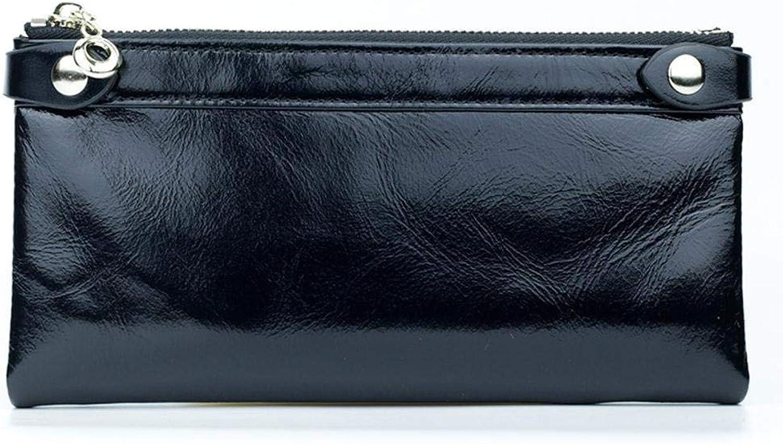 Girls Purse Women's Wallet,Head Layer Double Zip Wallet
