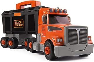 Smoby 360175 - Black & Decker Truck, gereedschap, kinderen vanaf 3 jaar, Oranje, zwart, grijs