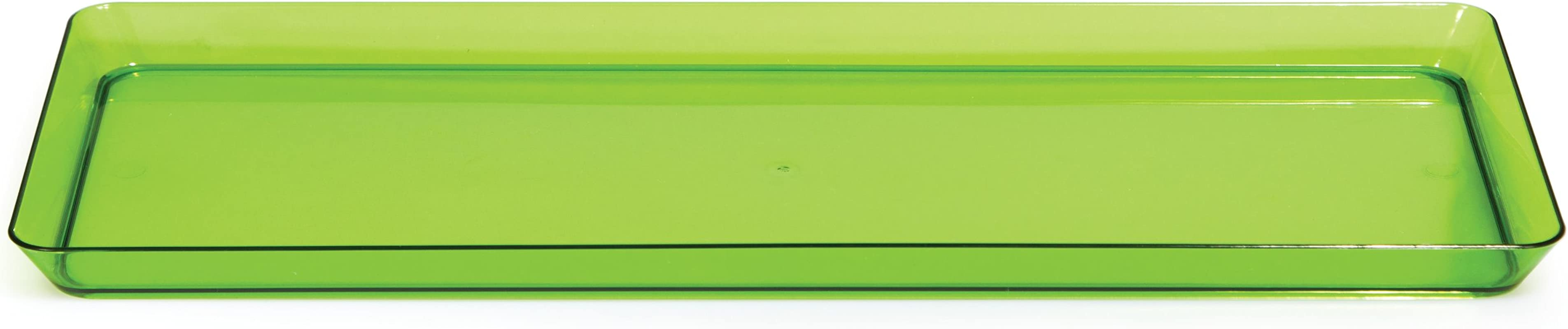 Creative Converting 179431 Rectangle Plastic Serving Tray 15 5 Inch X 6 Inch Translucent Green