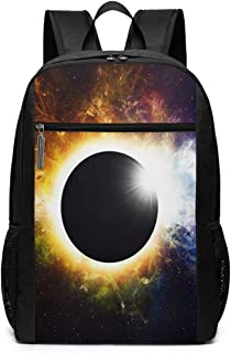 Travel Laptop Backpack Daypack School Backpack Shoulder Bag Lunar Eclipse Space Solar, College School Computer Bookbag for Women, Men, Outdoor Camping Fits up to 16 Inch Notebook