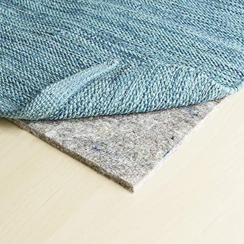 RUGPADUSA, Basics, 8'x10', 3/8' Thick, 100% Felt, Protective Cushion Rug Pad, Available in 4 Thicknesses, Optional Rubber Backing, Safe for All Floors and Finishes