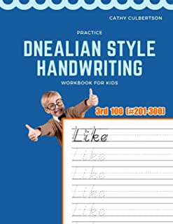 Practice Dnealian Style Handwriting Workbook for Kids: Tracing and review 3rd 100 Fry Sight Words book (1000 Fry Sight Words Dnealian Handwriting)