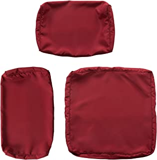 Kinsunny Peach Tree 7 PCs Outdoor Patio Wicker Sofa Chair Washable Cushions Pillow Replacement Covers for Seat and Back, Claret