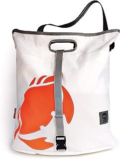 360° Taschenagentur Kramer Einkaufstasche Strandtasche orangene Krabbe aus Recycling Segeltuch