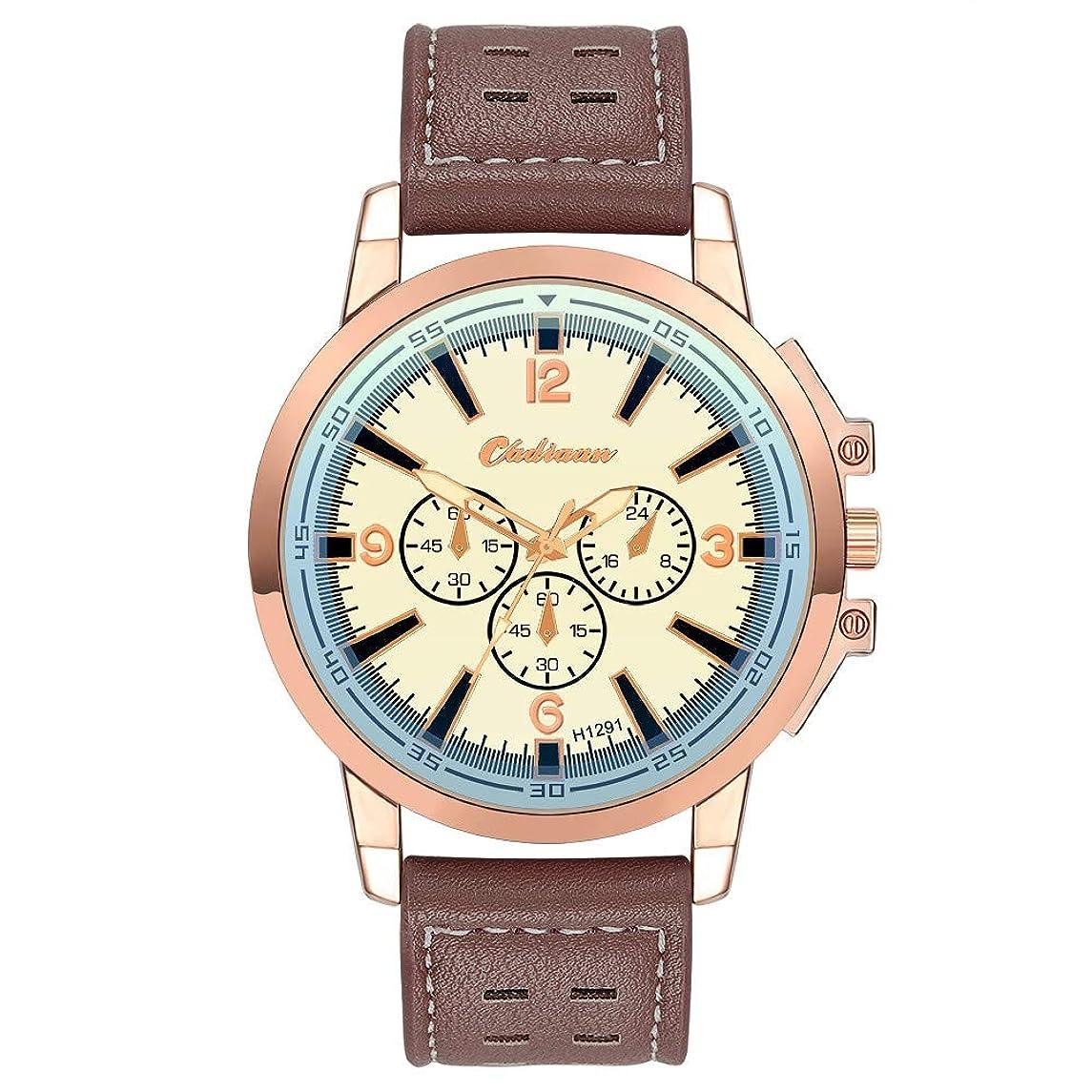 Guartz Watches for Men Digital Under 10 Dollars ? Retro Design Leather Band Analog Alloy Quartz Wrist Watch