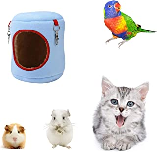 Winter Warm Bird Nest Hammock Hanging Bird House Hut for Parrot Budgies Plush Happy Hut Tent Bed Hamster Rat Gerbil Mice Cage Feeder Toy