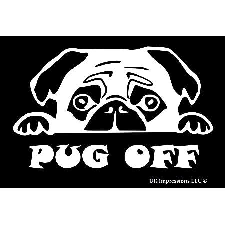 Pug Dog Pet Decal for vehicle car van laptop Fun Gift idea