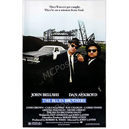 41cm x 61cm MCP876 The Blue Brothers Glossy Finish Movie Poster 16 x 24 MCPosters