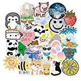 SUNYU 50PCS Cute Cartoon Smiling Face Small Fresh Suitcase Notebook Skateboard Sticker Graffiti Paper Decoration Wholesale