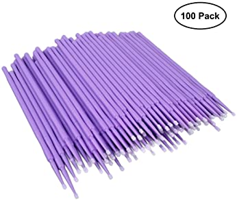 ATLIN Touch Up Paint Brushes, 100 Pack of 1.5mm Disposable Micro Applicators for Automotive Paint Chip Repair