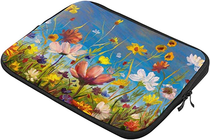Red Poppy Flowers Laptop Sleeve Case 13 13.3 Inch Briefcase Cover Protective Notebook Laptop Bag