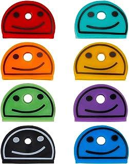 Pawfly 家の主ラベルのための8つの分類された色の24のPCSの微笑の表面キーホルダーカバー