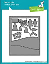 LAWN FAWN Cuts Custom Craft Dies: Stitched Hillside Backdrop Portrait (LF1503)