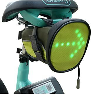 FANCYWING LED Cycling Saddle Bag/Bicycle Underseat Bag w/Reflective Turn Signal Direction Indicator Light - Lightweight, Waterproof, Safe for Bicycle at Night