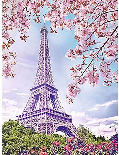 1 Pcs DIY 5D Diamond Painting Kits Cherry Blossoms Full Diamond Rhinestone Embroidery Painting Living Room Bedroom Home Hanging Picture Decor Art Crafts Mural, 30 * 40cm