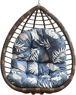 Cesta colgante para interior con cojín para silla de jardín, columpio para huevos, para colgar en el jardín, con cremallera, color azul