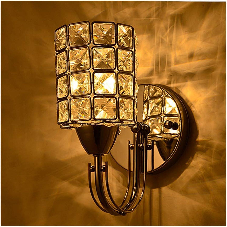 FUYING_YAN Wandleuchten Moderne Kristall Wandleuchte, Single Head Wohnzimmer Nachttischlampe Schlafzimmer Cafe Bar Wandleuchte