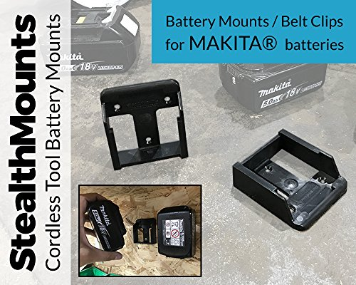 Stealth Mounts Batteriehalter für Makita 8 V LXT Li-Ion Batterien–Stealth Mounts Aufbewahrung, Akku-Clip, Gürtelclip, Batterie-Halterung