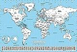 Póster para Colorear Colour in - Travel Map/Mapa del Mundo (91,5cm x 61cm)
