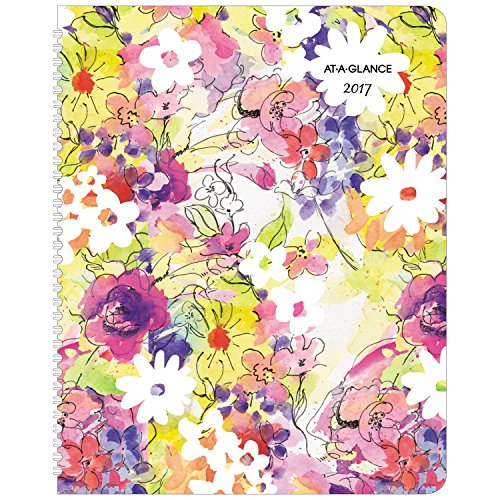 """AT-A-GLANCE Weekly / Monthly Planner / Appointment Book 2017, 13 Months, 8-1/2 x 11"""", Secret Garden (515-905)"""