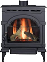 Majestic Oxford Direct Vent Gas Stove with Standing Pilot in Classic Black - NG
